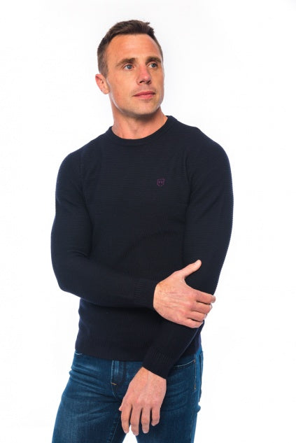 XV KINGS Finn Valley Crew Neck Sweater - Space Mix