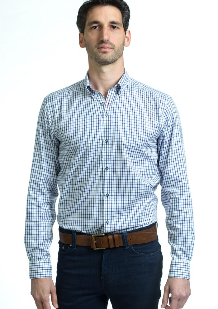 Andre George Long Sleeve Shirt - Navy