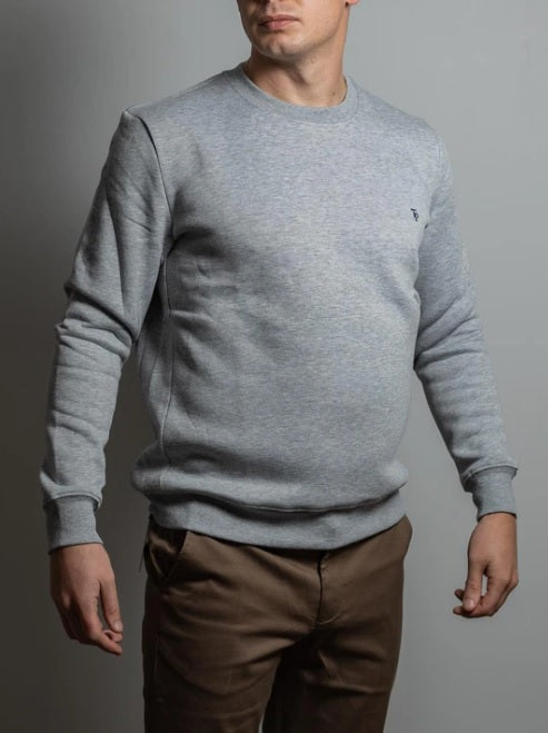 Tom Penn Crew Neck Sweater - Grey