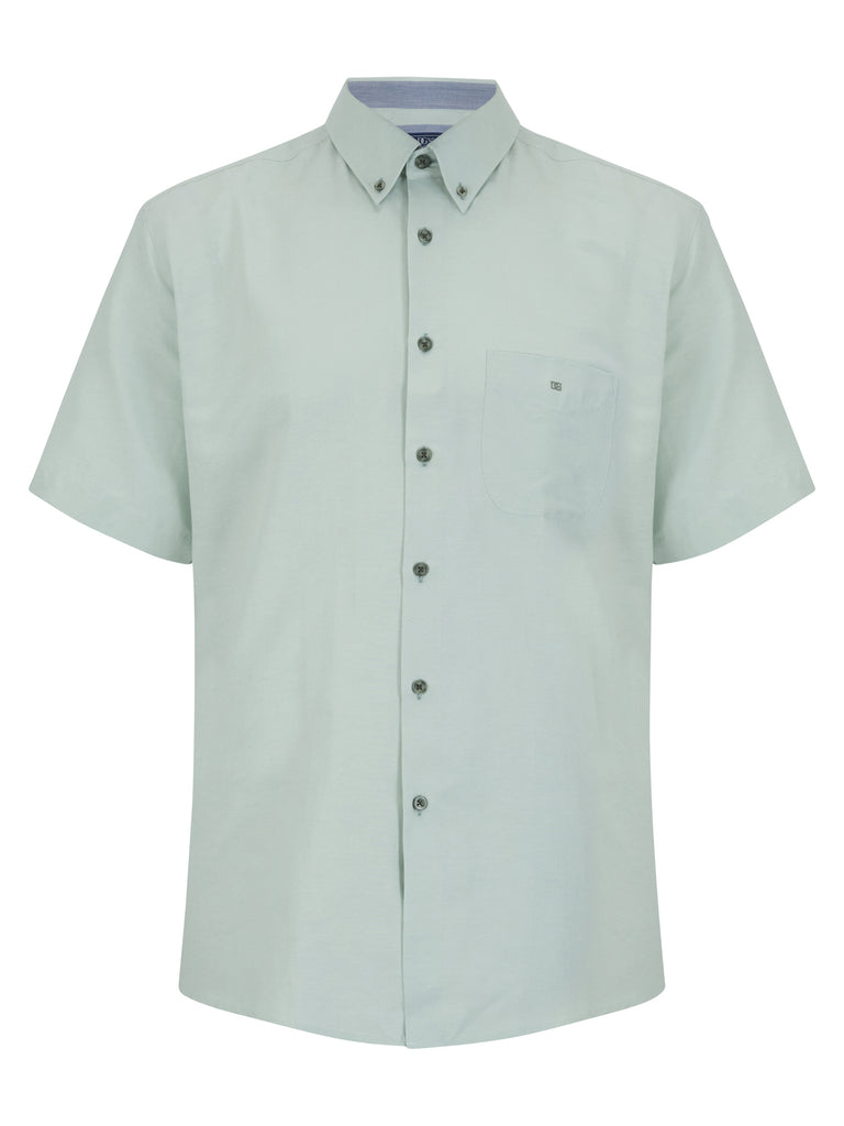 Daniel Grahame Short Sleeve Casual Shirt - 31 Light Green