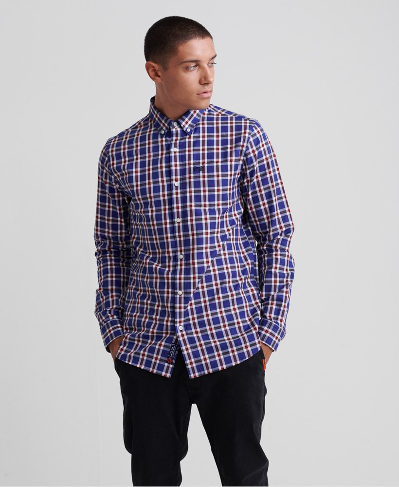 Superdry Classic London Long Sleeved Shirt - Navy Check