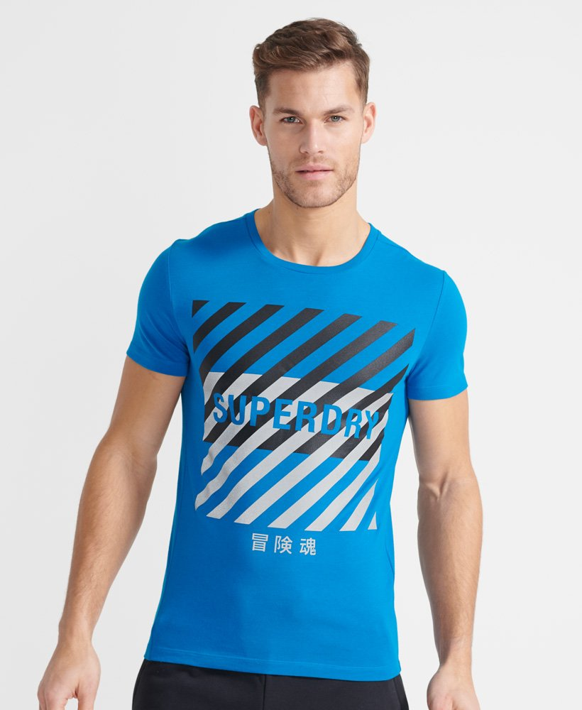 Superdry Training Coresport Graphic T-Shirt - Naval Blue