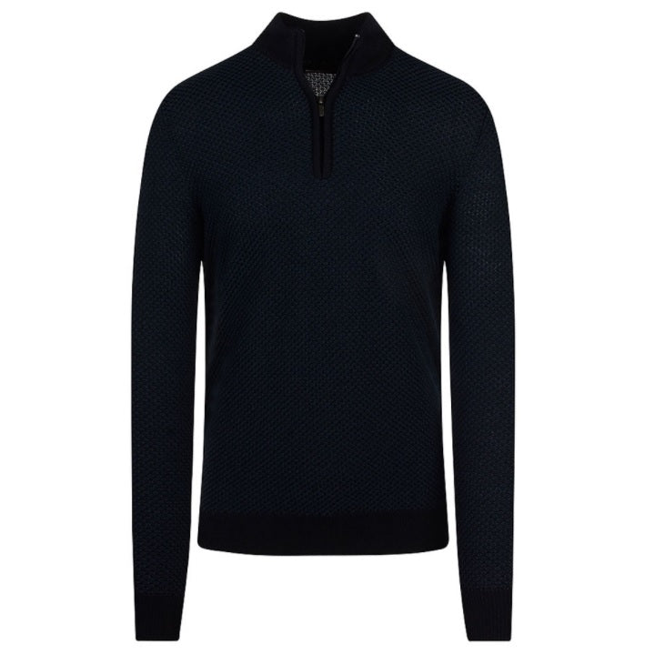 Remus Uomo Half Zip sweater - Navy
