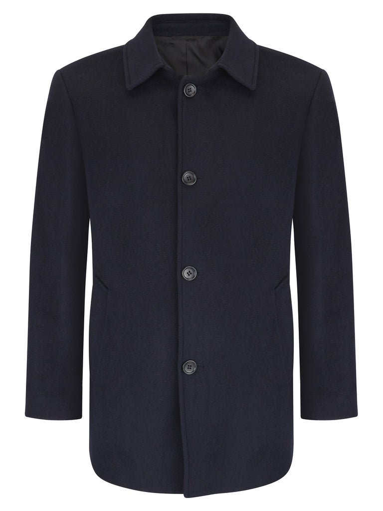 Daniel Grahame Branson Tailored Coat - Navy