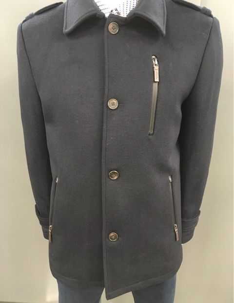 Sea Barrier Bulnes Wool Coat - Navy