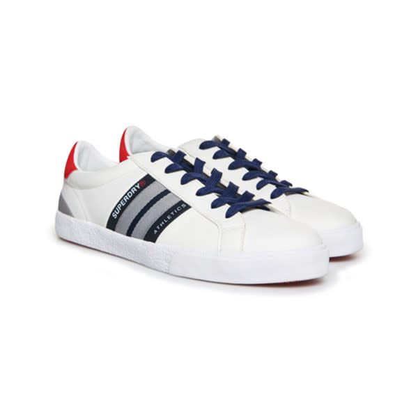 Superdry Vintage Court Trainer - Optic White/Dark Navy