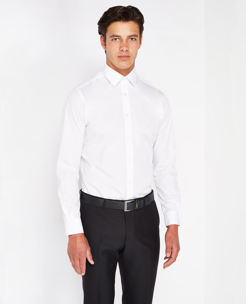 Remus Uomo Tapered Fit Formal Shirt - White