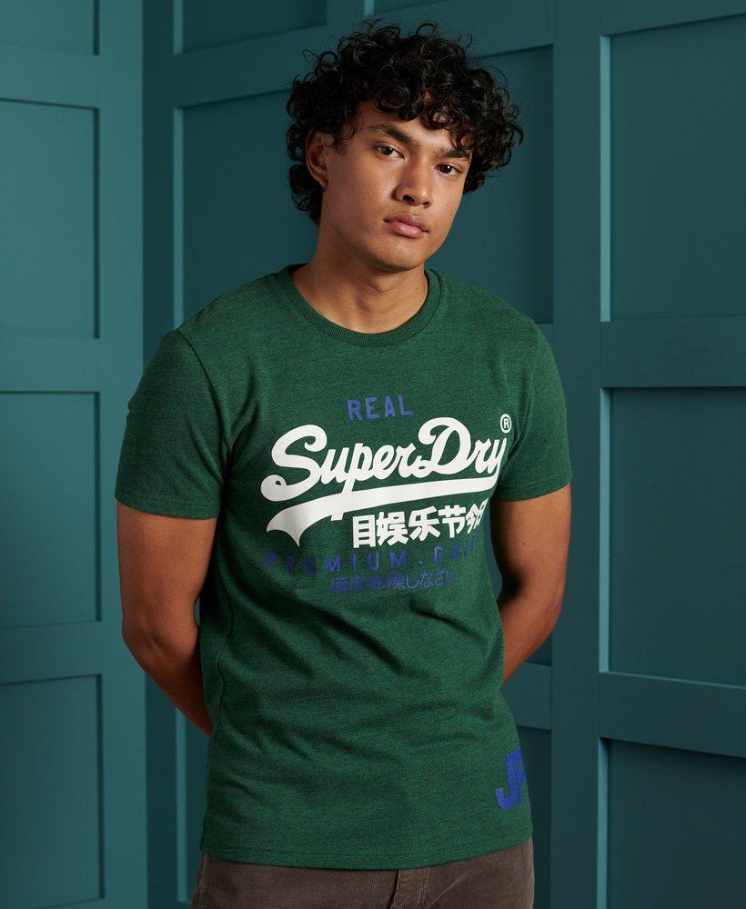 Superdry Vintage Logo Duo T-Shirt - Willow Green Grit