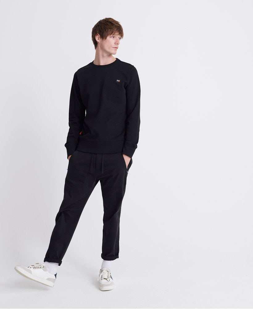 Superdry Collective Loopback Crew Sweatshirt- Black
