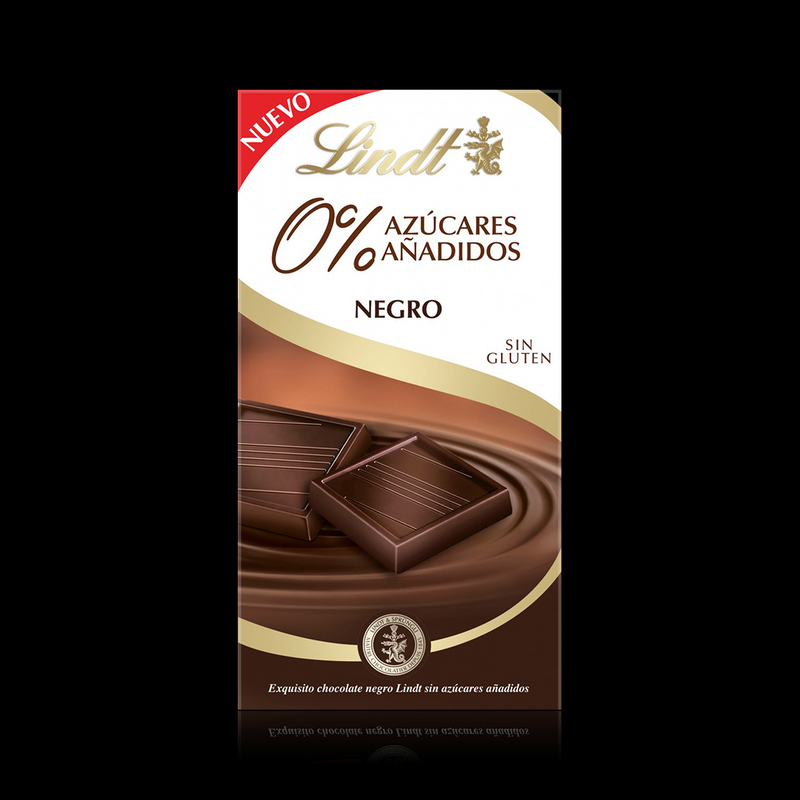 0% Azucares Añadidos Negro Lindt 100g