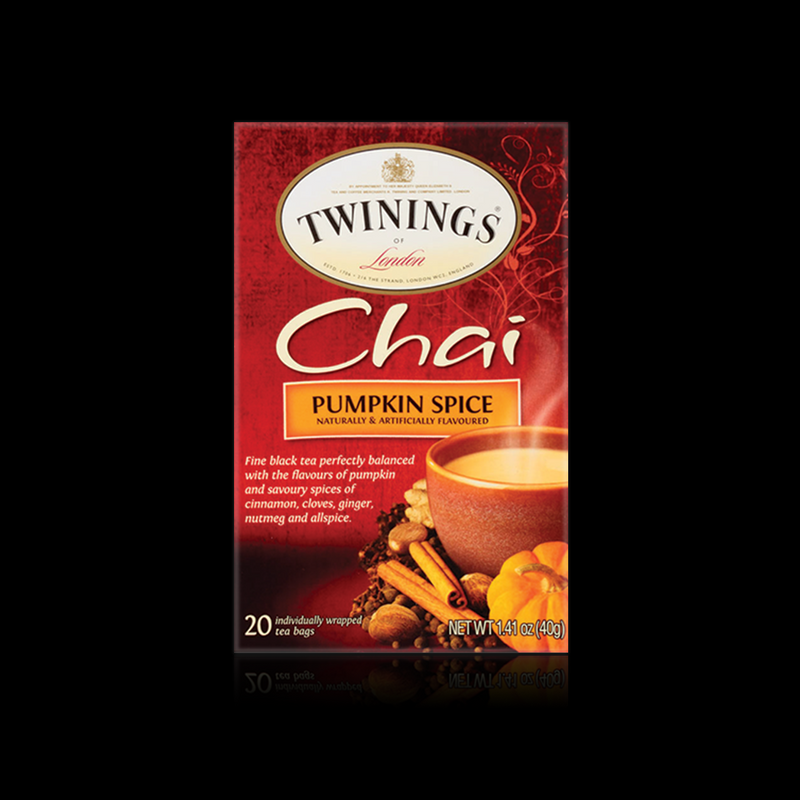 Chai pumpkin spice black tea twinings 40 g