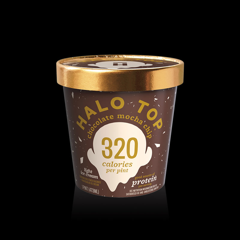 Chocolate Mocha Chip 320 Calories Halo Top 473ml