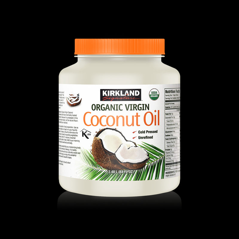 Coconut Oil Organic Virgin Kirkland 2.48 L