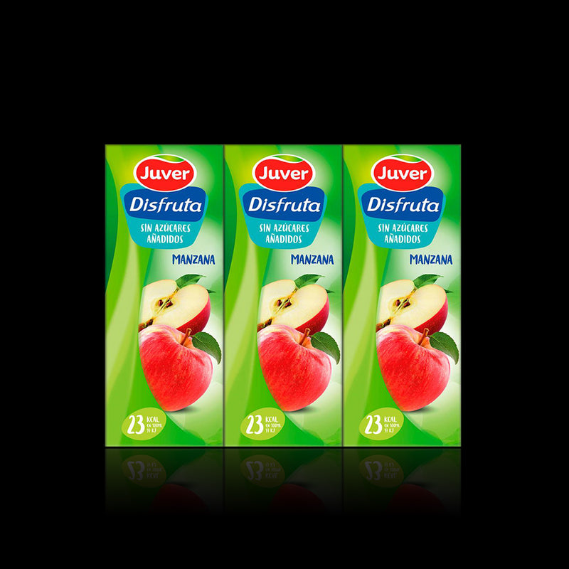 Jugo Manzana Juver 3 pack 200 ml