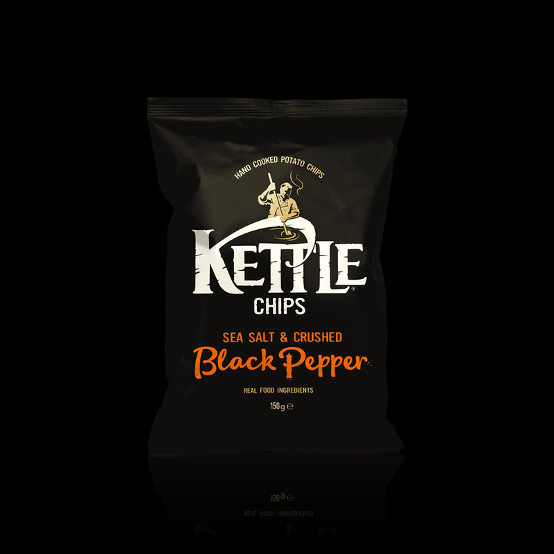 Chips sea sal & crushed black pepper kettle 150 g