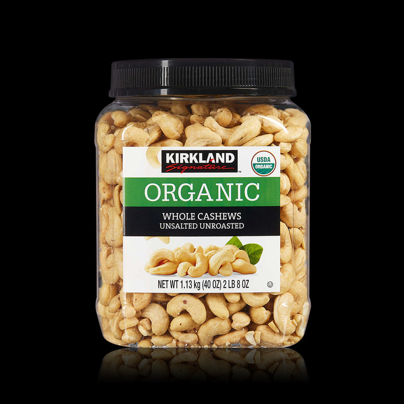 Organic Whole Cashews Kirkland 1.13 kg