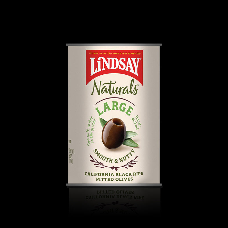 Large black ripe pitted olives lindsay 170 g