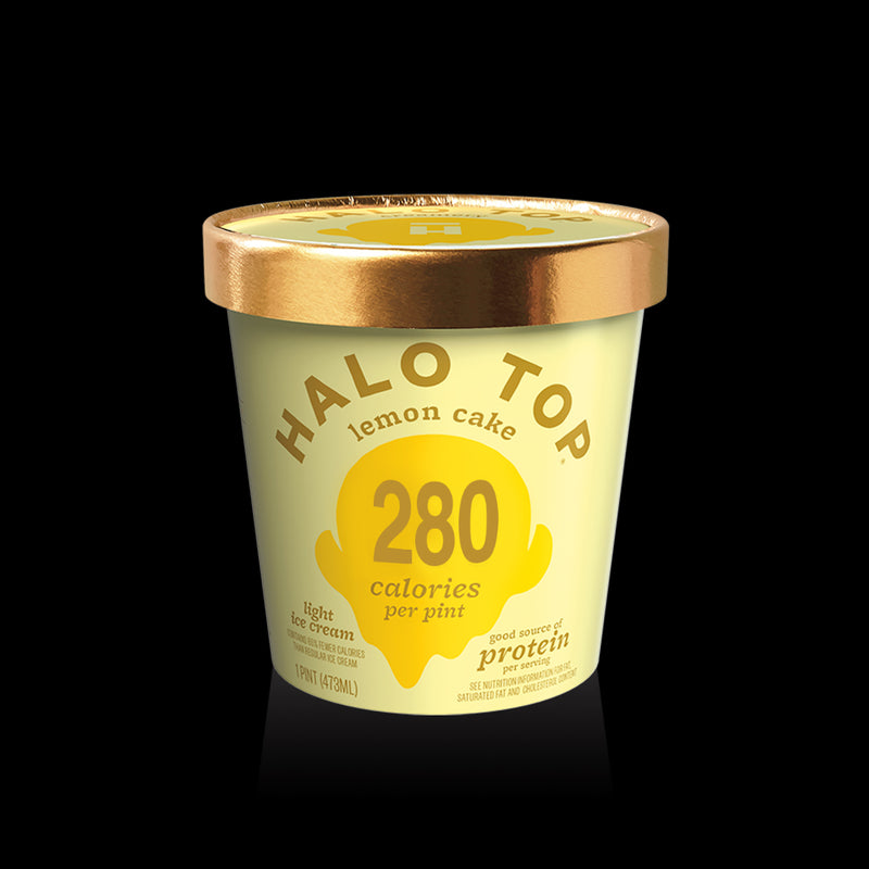 Lemon Cake 280 Calories Halo Top 473ml