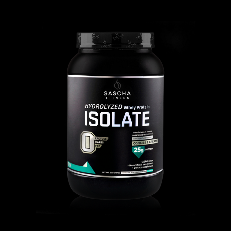 Whey Protein Isolate Cookies and Cream Sascha Fitness 907g