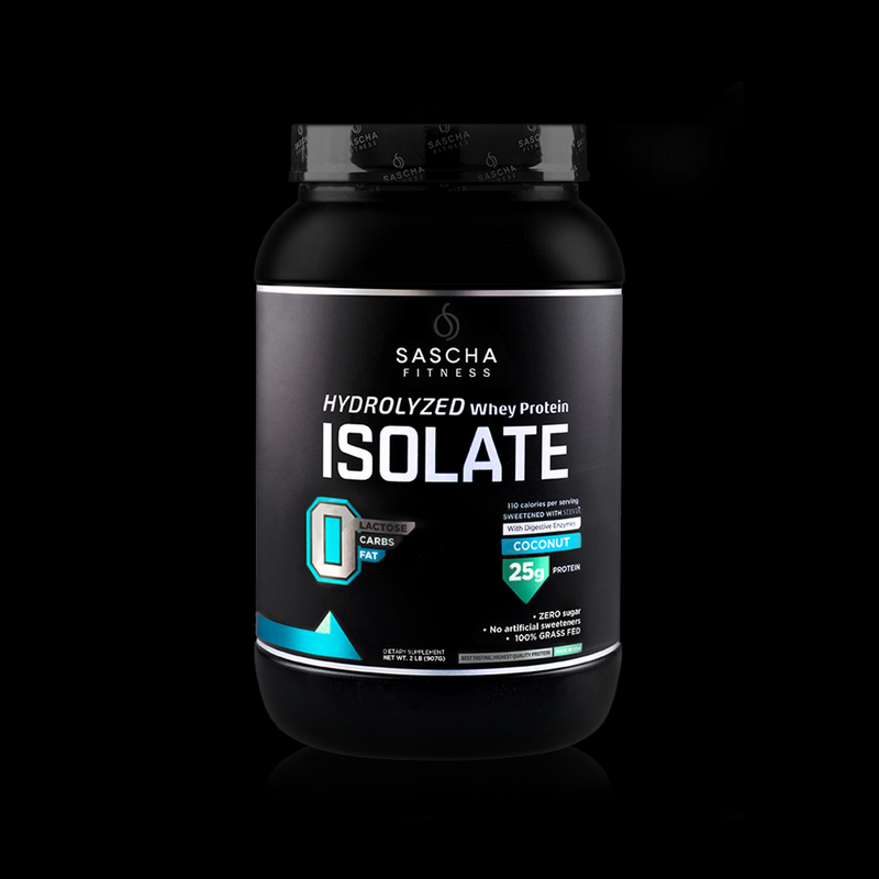 Whey Protein Isolate Coconut Sascha Fitness 907g