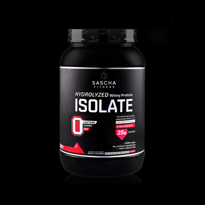 Whey Protein Isolate Strawberry Sascha Fitness 907g