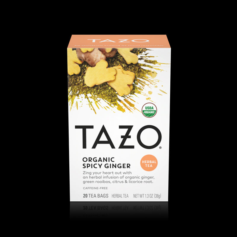 Organic spicy ginger herbal tea tazo 38 g