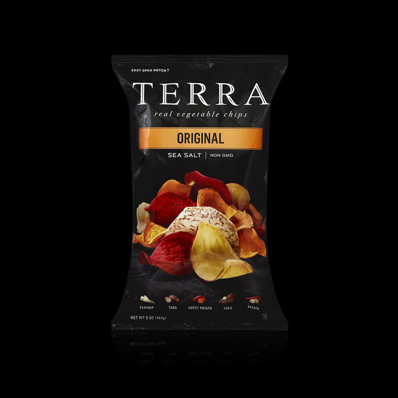 Sea salt real vegetable chips terra 141 g