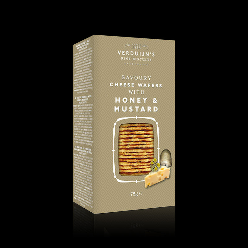Cheese Wafers With Honey & Mustard Verduijhns 75g