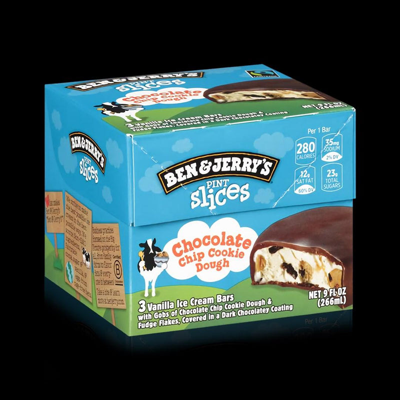 Pint Slices Chocolate Chip Cookie Dough Ben & Jerrys 266 ML