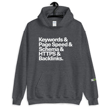 Load image into Gallery viewer, Keywords, Page Speed, SEO Unisex Hoodie