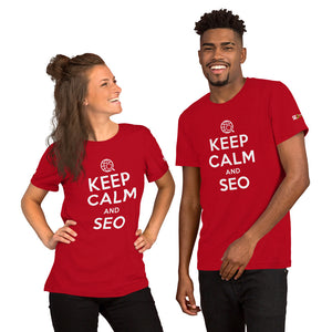 Keep Calm and SEO Unisex T-Shirt