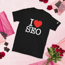 Load image into Gallery viewer, I Love SEO Unisex T-Shirt (Black)