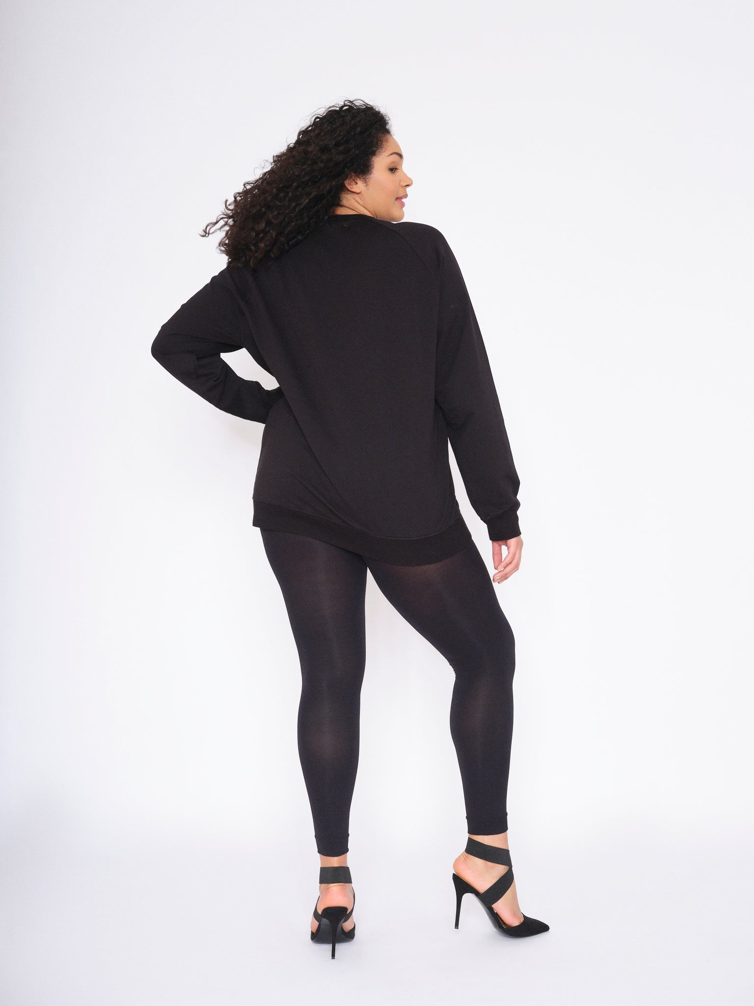 Ms Shape Skin Smoothing Black Opaque Leggings