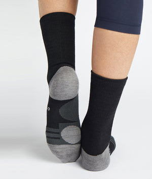 Crew Black/Grey Socks