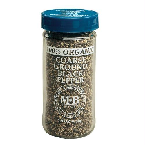 Morton & Bassett Organic Coarse Ground Black Pepper (3x1.8 Oz)