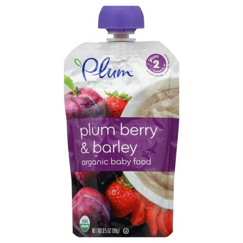 Plum Organics Plum Berry & Barley, Yum 2, 6 Months & Up (6x3.5 Oz)