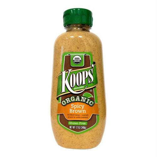 Koops Organic Spicy Brown Mustard (12x12 Oz)