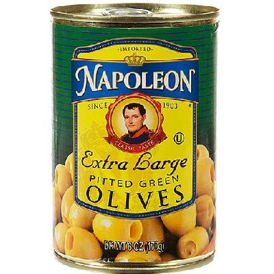 Napoleon Co. Green Pitted Olives (12x6oz )