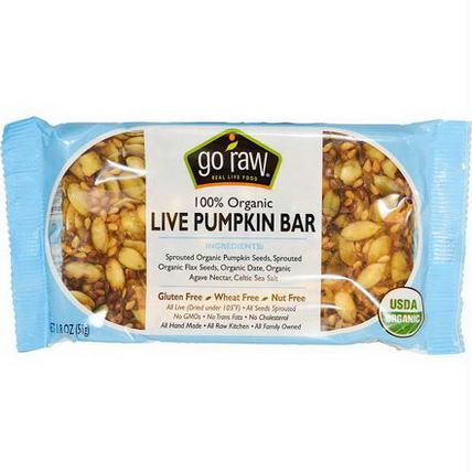 Go Raw Organic Live Pumpkin Bar (20x1.8 Oz)
