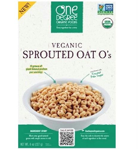 One Degree Organic Foods  Odof Vegan Sprouted Oat O's (6x8 Oz)