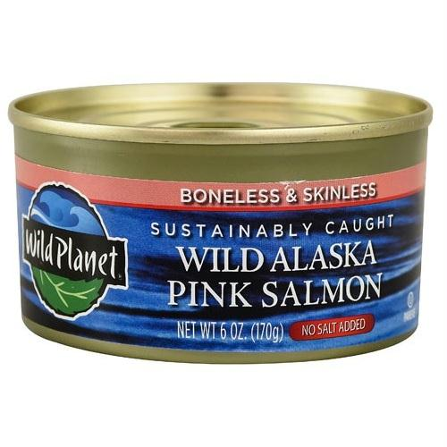 Wild Planet Alaska Pink Salmon No Salt (12x6 Oz)