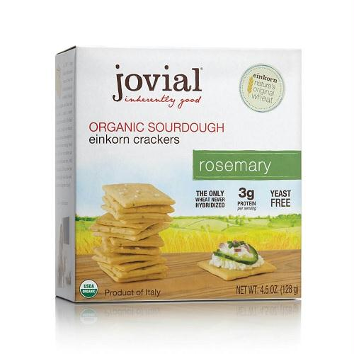 Jovial Rosemary Sourdough Einkorn Crackers (10x4.5 Oz)