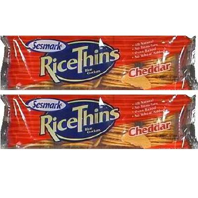 Sesmark Foods Rice Thins Cheddar (12x3.5oz )
