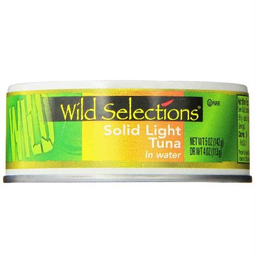 Wild Selections Solid Light Tuna In Water (12x5 Oz)