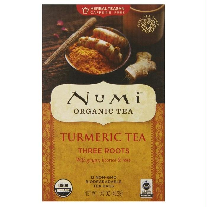 Numi Tea Three Roots,ginger,licrc,rose (6x12 Bag)