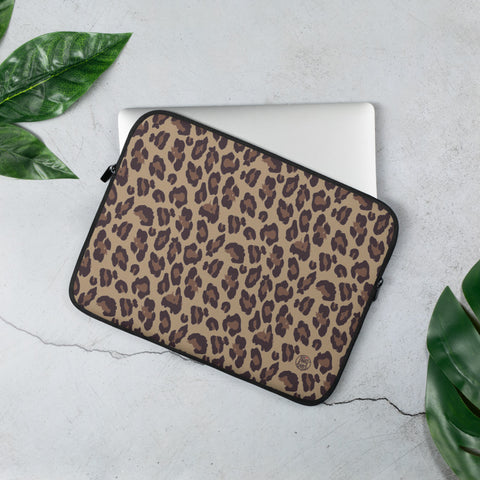 LAPTOP HÜLLE | LAPTOP SLEEVE LEOPARD PRINT