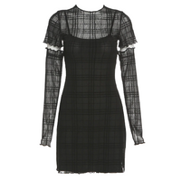 Plaid Detatched Dress