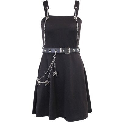 Belted Chain Dress