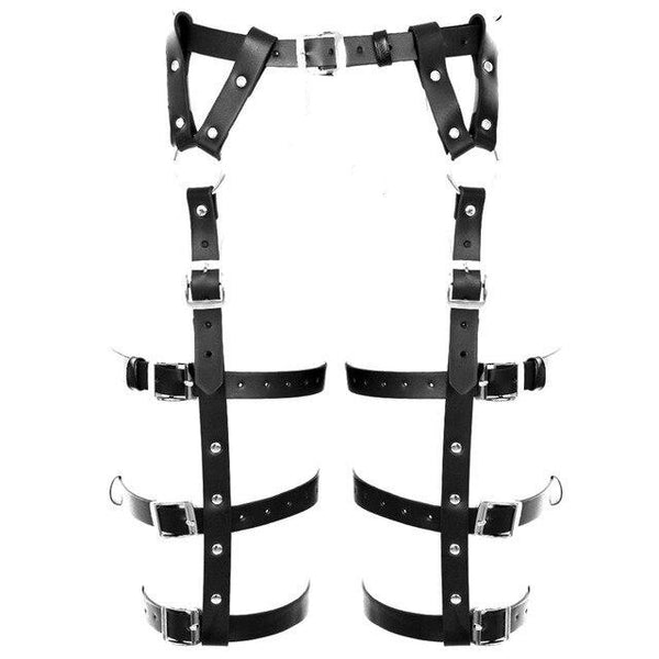 SOLAR PU Leather Leg Harness