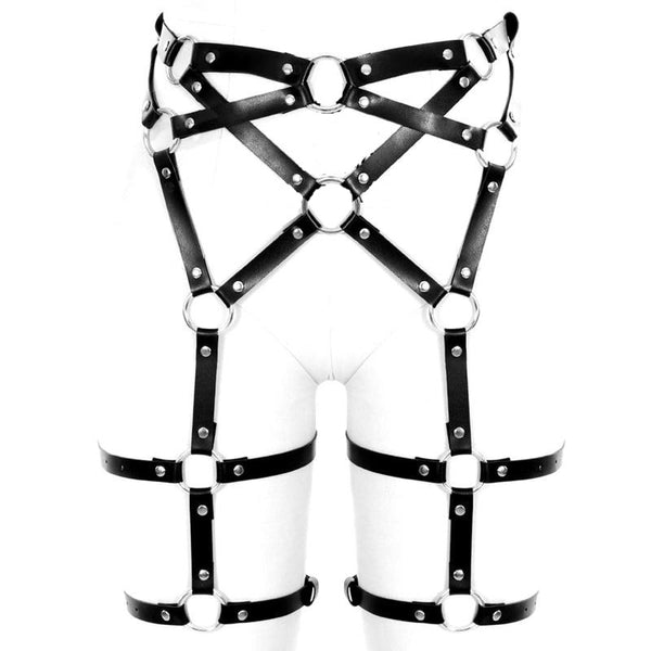 VOID PU Leather Leg Harness